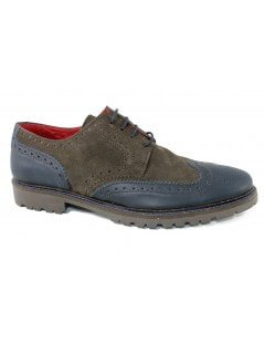 Atpco - scarpe brogue marrone blu
