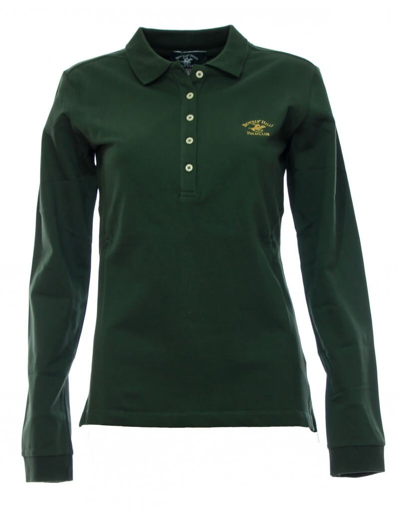 Maglia polo donna Verde Beverly Hills Polo Club