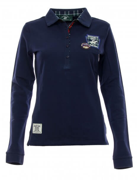 Polo donna blu Maglia Beverly Hills Polo Club