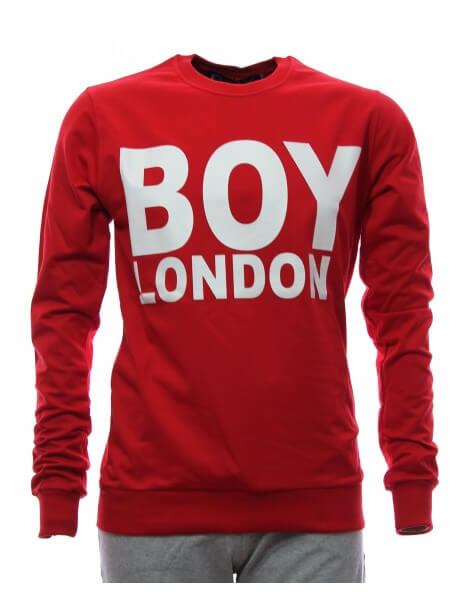 felpa senza cappuccio boy london rossa