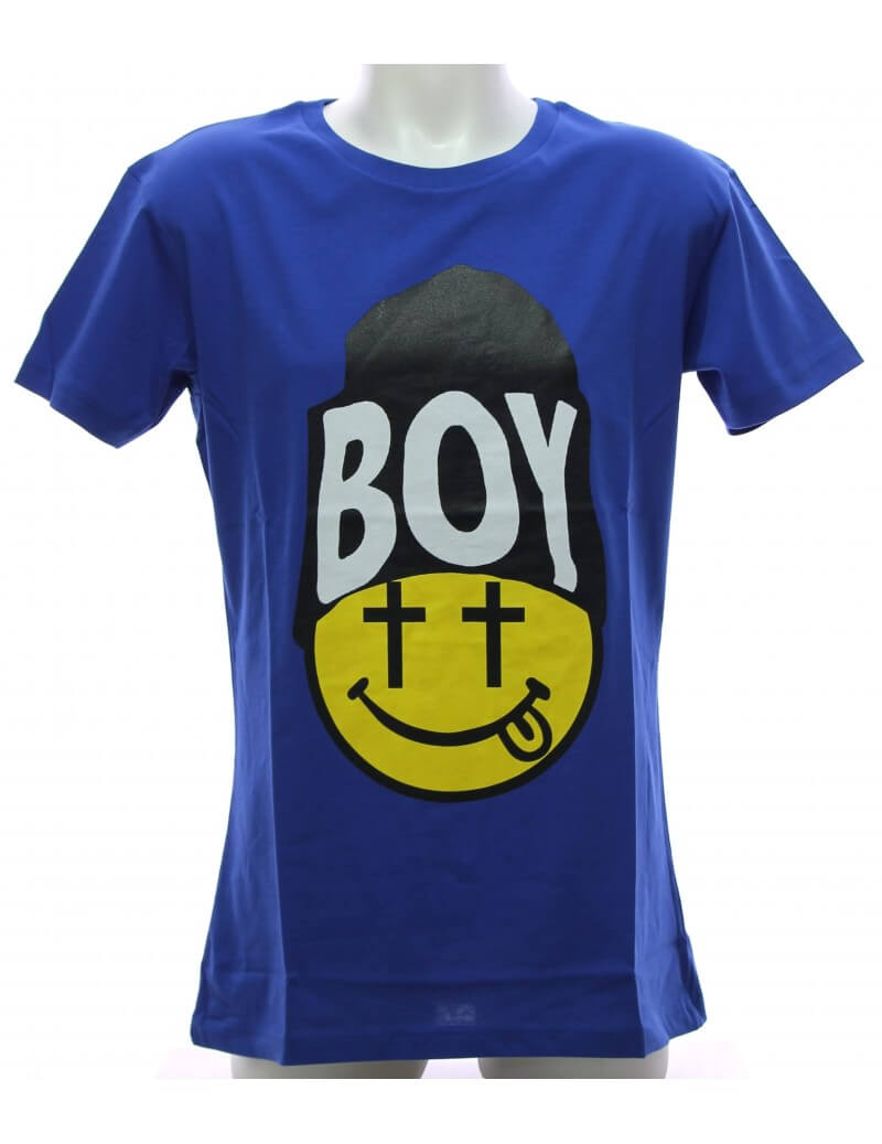 Maglietta Boy London T-Shirt Blu Royal