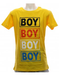 Maglietta Boy London T-Shirt Gialla