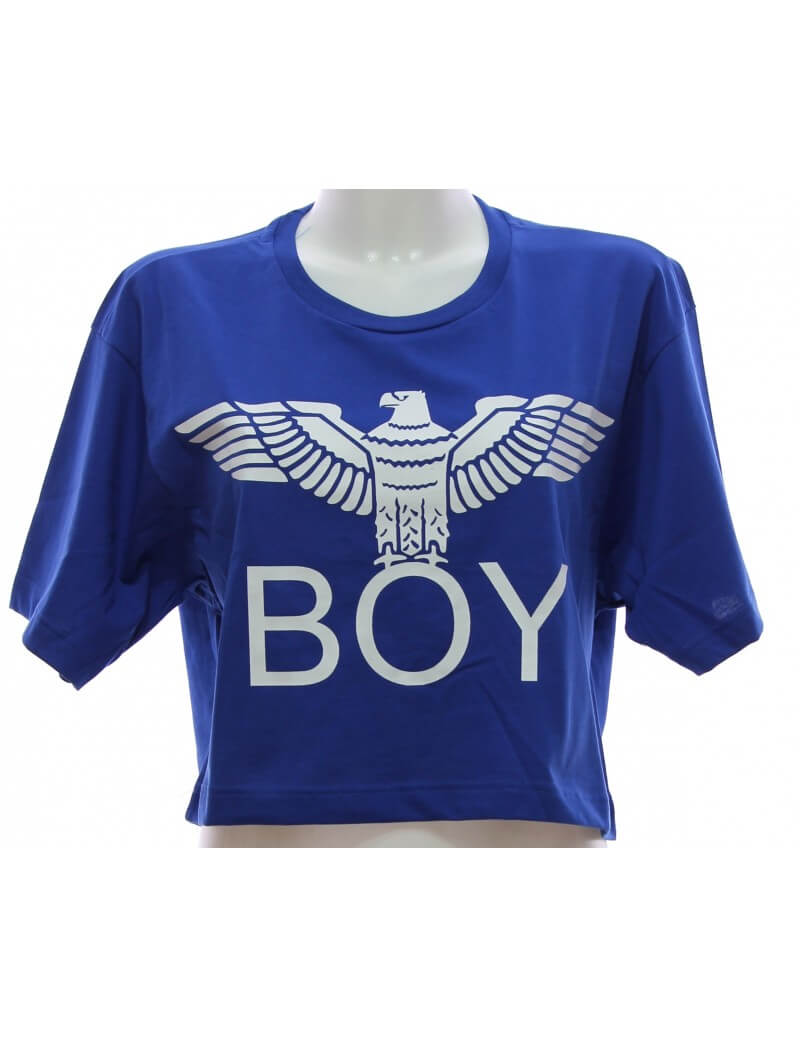 Maglietta Boy London Blu Royal T-shirt Donna