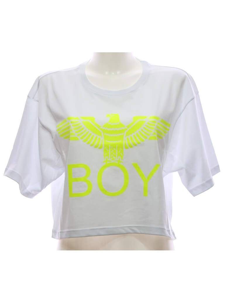 T-shirt Donna Bianca Maglietta Boy London