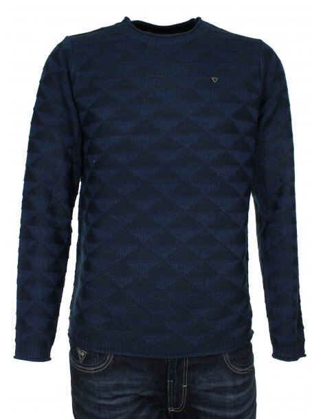 Fifty Four pullover uomo blu girocollo