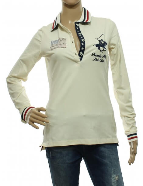 Maglia polo donna Panna Beverly Hills Polo Club