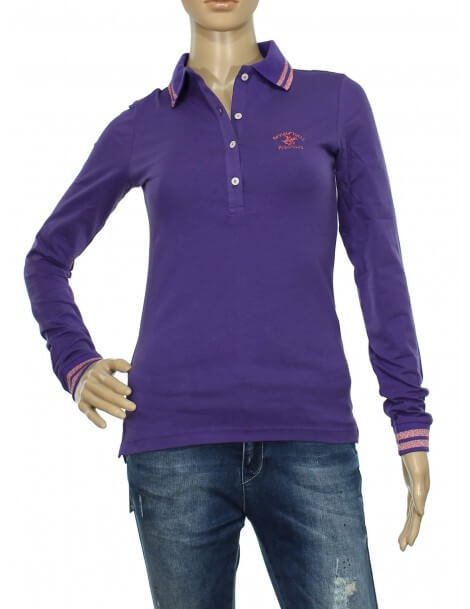 Maglia polo donna viola Beverly Hills Polo Club