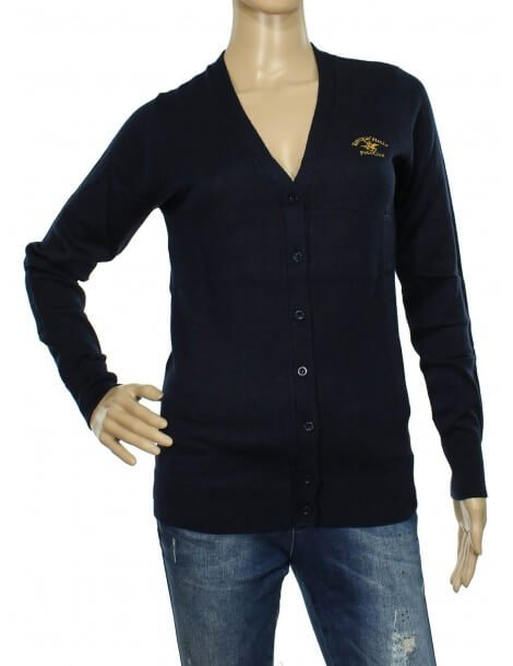 Beverly Hills Polo Club - Cardigan donna blu