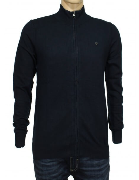 Fifty Four cardigan zip blu