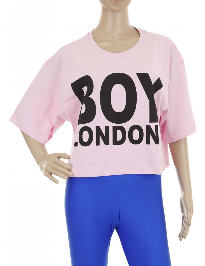 Maglietta Boy London corta rosa